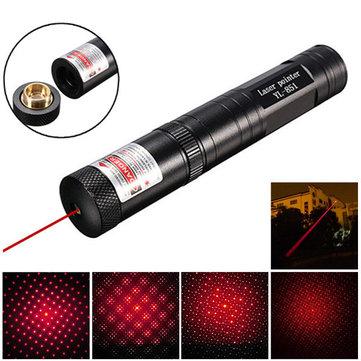 650nm 5mW Adjustable Red Light Laser Pointer +Star Cap