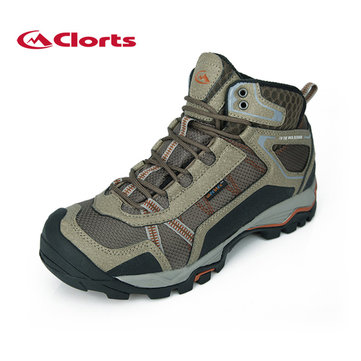 Clorts Mens Waterproof Hiking Boots Leather Breathable Shoes