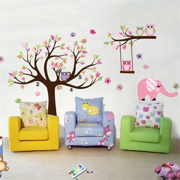 Removable Owl Tree Branch Vinyl Art Wall Sticker Home Decal Decor Baby 200x142cm
