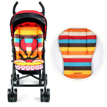 Bebek Arabası Kalın Pamuk Mat Şeritli Yastık Koltuk Yatağı BB Araba Aksesuar
