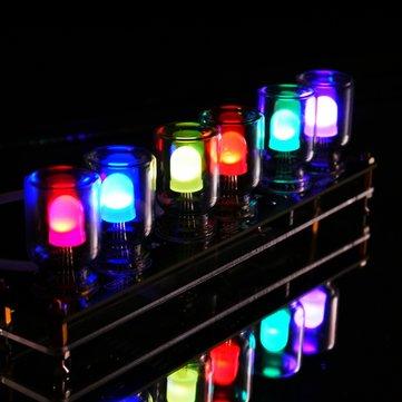 Geekcreit® DIY Aurora LED Colorful Light Cube Chromatography Glass Clock Kit