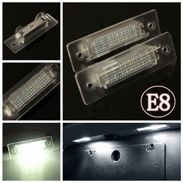 2 X White LED Number License Plate Light Lamp For Porsche 911 Carrera E-marked