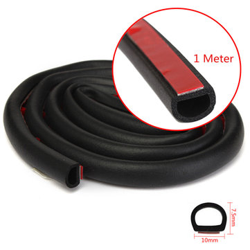 1M Small D Shape Car Truck Motor Door Hollow Rubber Seal Weather Strip 10x7.5mm