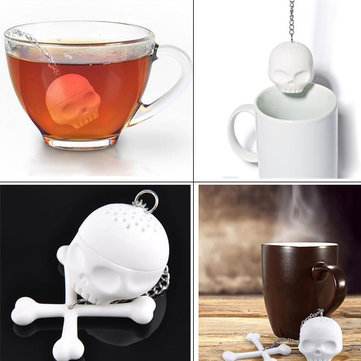 Cool Silicone Skull Tea Strainer Infuser Tea Filter Diffuser