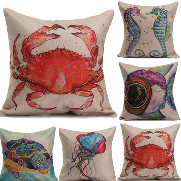 Marine Animal Printed Sofa Pillow Cover Home Office Cushion Cover