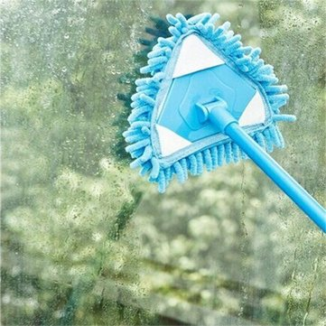 Blue Purple Alternative Chenille Mop Trilateral Washable Triangle Stretching Easy Clean