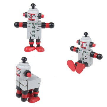Variety Wooden Transformer Robot Education Jigsaw Puzzle Toy
