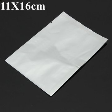 11X16cm Translucent Aluminum Foil Mylar Vacuum Bag Sealer Open Top Food Storage