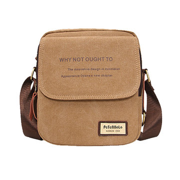 Men Canvas Campus Crossbody Messenger Bag Male Shoulder Bag