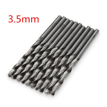 10pcs 3.5mm Micro HSS Twist Drill Bits Straight Shank Auger Bits For Electrical Drill
