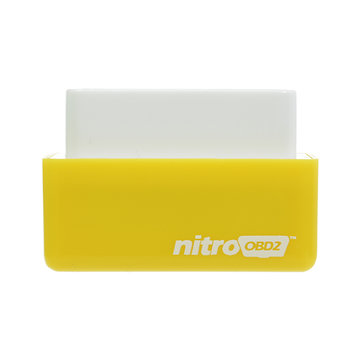Nitro OBD2 Benzine Yellow Economy Chip Tuning Box Power Fuel Optimization Device