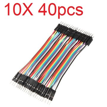 10X40pcs 20cm Male to Male Color Breadboard Cable Jump Wire Jumper For RC Models