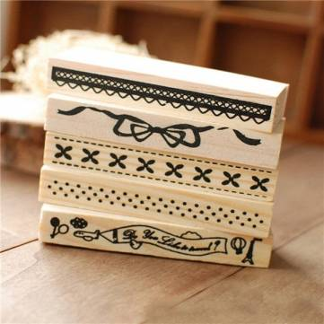 Vintage Border Lace Wooden Rubber Stamp Scrapbook Craft Wedding Party Decor