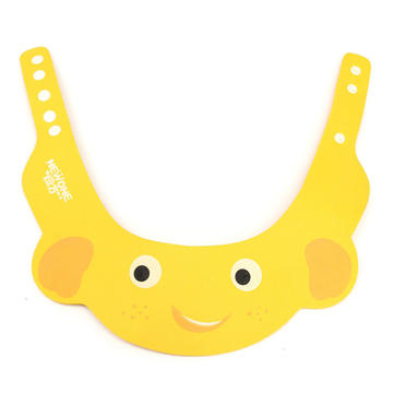 Baby Soft Kid Safe Shampoo Bath Shower Adjustable Cap Hat Wash Hair Eyeshield