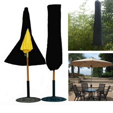 Outdoor Yard Garden Umbrella Parasol Cover Zipper Waterproof