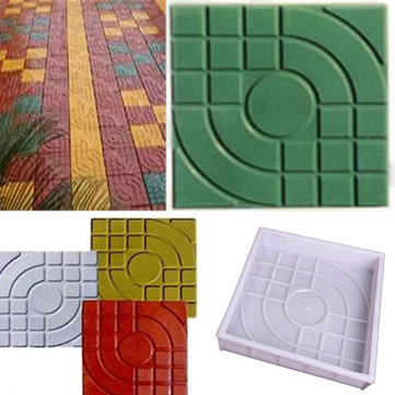 2pcs Square Garden DIY Walking Path Maker Paving Cement Brick Mold