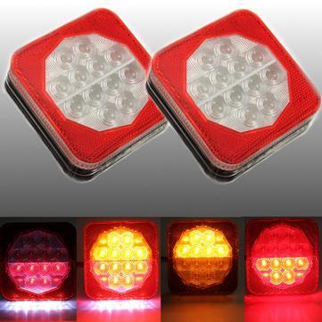 1pair 12V LED Römork Van Kamyon Arka Fren Kuyruğu Gösterge Lambası Lisans Kap Lamba