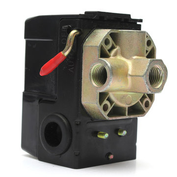 Air Compressor Pressure Switch Control Valve 4 Ports 90-120PSI 26 AMP 240VAC