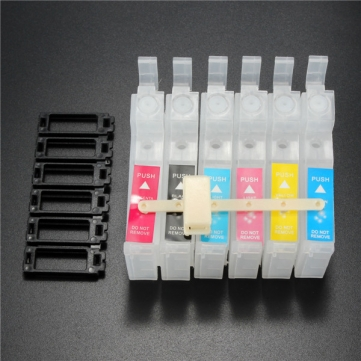 DIY 6 Color Refillable Inner Ink Cartridge For EPSON R330 1390 1400 T50 R290 R27