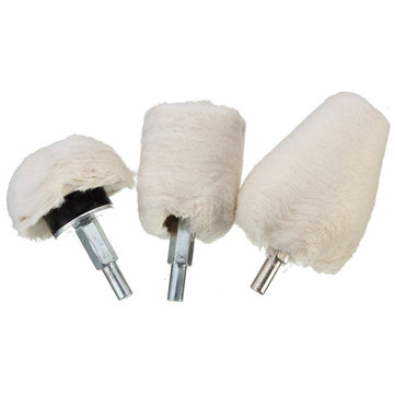 3pcs Polishing Mop Kit Buffing Wheel Conical And cylindrical And mushroom Compound