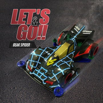 Let's&Go Beak Spider Mini DIY 4WD Racing Car