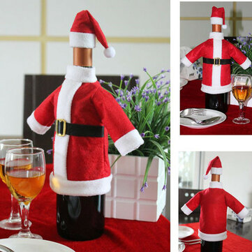 Christmas Santa Wine Bottle Cover Xmas Gift Table Dinner Decoration
