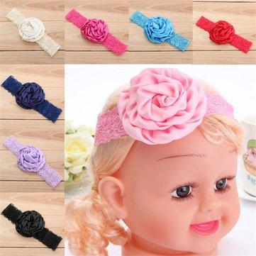 Newborn Baby Girls Flower Headbrand Soft Rose Elastic Band Headwear Hair Accessories
