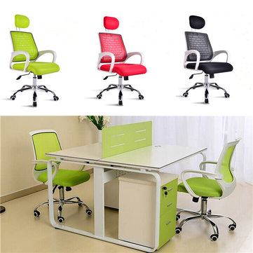 EU Warehouse Computer Desk Office Swivel Chair Simple Staff Chair Black Red Green
