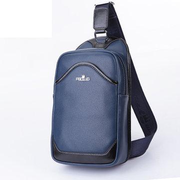 Мужчины случайные груди пакет небольшой мужской черный синий через плечо сумка