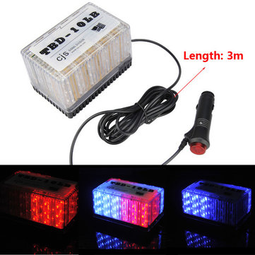 24W Auto Square Shape Strobe Ceiling 48LED Lamp Warning Light