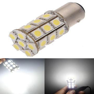 BAY15D 1157 5050 27SMD LED White Car Brake Light Bulb