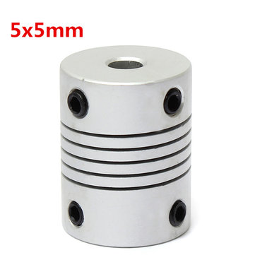 5mm x 5mm Aluminum Flexible Shaft Coupling OD19mm x L25mm CNC Stepper Motor Coupler Connector