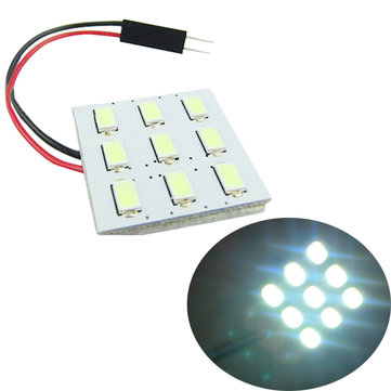 5630 9SMD Car LED White Interior Dome Reading Trunk Panel Light Bulb