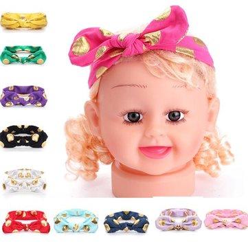 Baby Bowknot Rabbit Ears Knot Dot Pure Cotton Headbrand Hair Band Hair Accessory