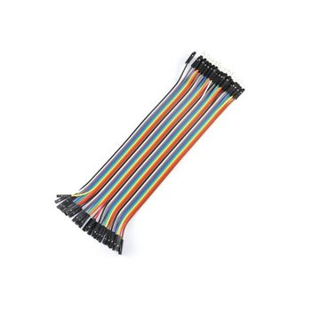 40pcs 20cm Male to Female Color Breadboard Cable Jump Wire Jumper
