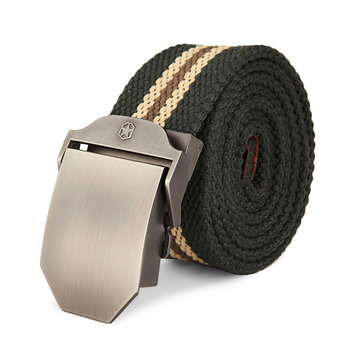 125CM Men Canvas Belt Thickening Alloy Buckle Pants Strip