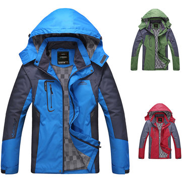 Outdoor Cycling Men Jacket Windproof Hooded Jersey For Mountaineering