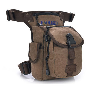 Men Women Casual Canvas Outdoor Sports Waist Bag Camera Bag