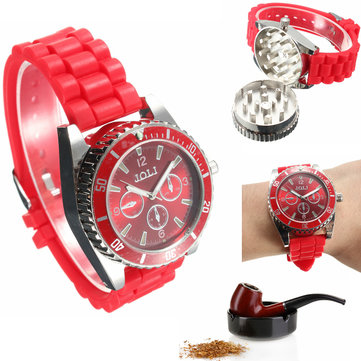 JOLI Real Metal Wrist Watch Grinder Herb Tobacco Leaf Cigarette Crusher Wrist