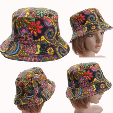Women Bucket Sun Basic Hunting Fishing Outdoor Casual Sport Cap Floral Hat