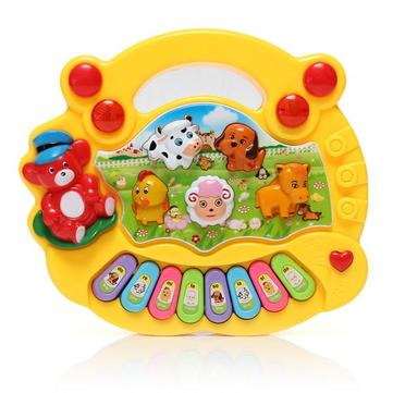Yellow Cute Animals Baby Children Kids Musical Developmental Electrical Piano Keyboard Early Educational Toys