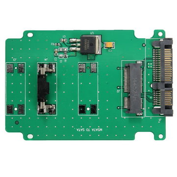 Mini PCI-E mSATA SSD 50mm to 2.5 Inch SATAIII 7 Pin 15 Pin Adapter Converter Card