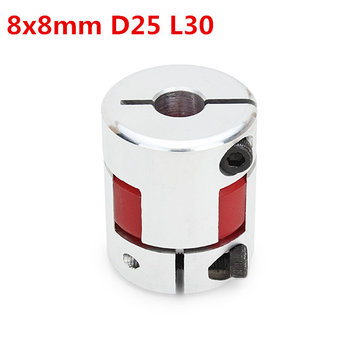 Machifit 8mmx8mm OD25mm x L30mm Aluminum Flexible Spider Shaft Coupling CNC Stepper Motor Coupler Connector