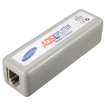 RJ11 ADSL Fax Modem Broadband Phone Network Jack Cable Line Filter Splitter