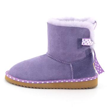 MG Новая зима Женское Туфли из овчины Туфли с низкой пяткой Мода Серебристый теленок Снег Ботинки Обувь