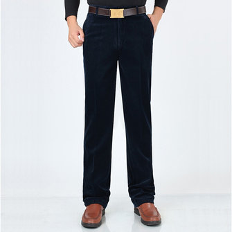 Men Fall Corduroy Straight-leg High Waist Large Size Pants