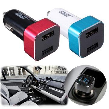 Accendisigari voltmetro digitale doppio adattatore del caricatore del usb 2 LED Display