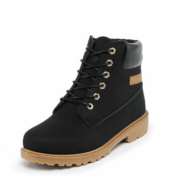 New Men Fashion High Boots Comfortable Flat Casual Outdoor Boots Shoes