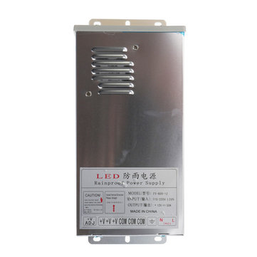 12V 50A 600W Outdooors Waterproof Aluminium Shell Switching Power Supply