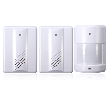 2 In1 Doorbell Welcome Entry Bell Alarm Chime Doorbell Wireless Infrared Monitor Sensor Detector